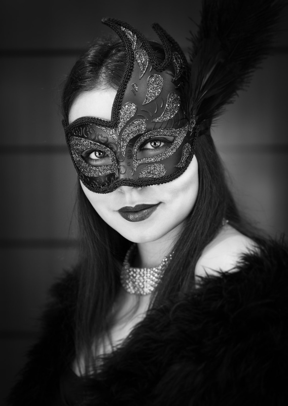 The girl in the mask by Neil Buchan Grant
