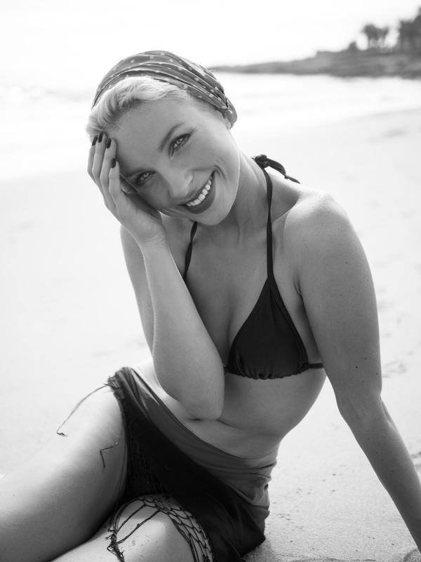 Vintage Riviera Girl by Neil Buchan Grant