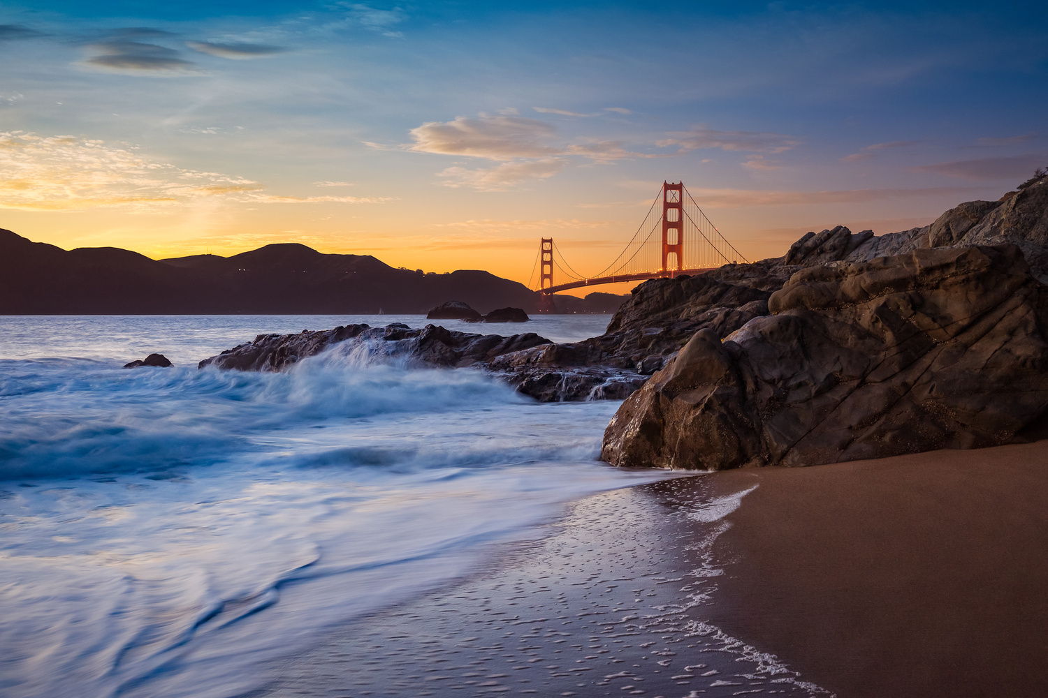 Golden Gate Sunset by Rex Jones