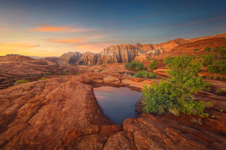 Snow Canyon Sunrise by Rex Jones