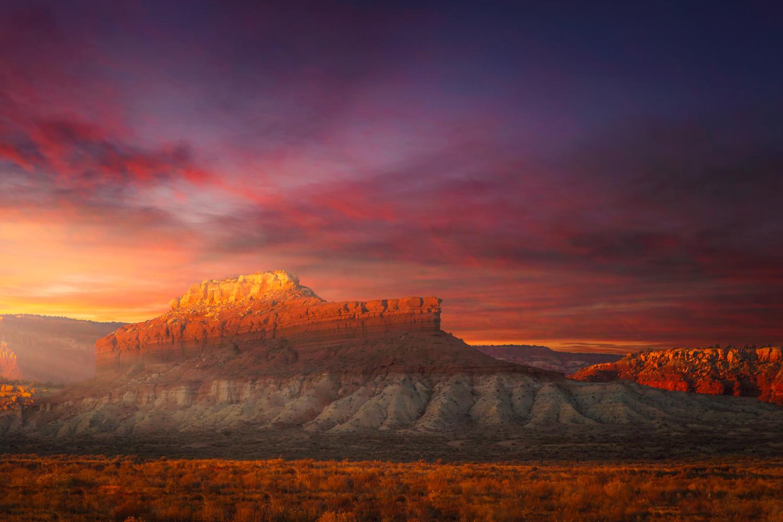 Shiprock Sunset by Rex Jones