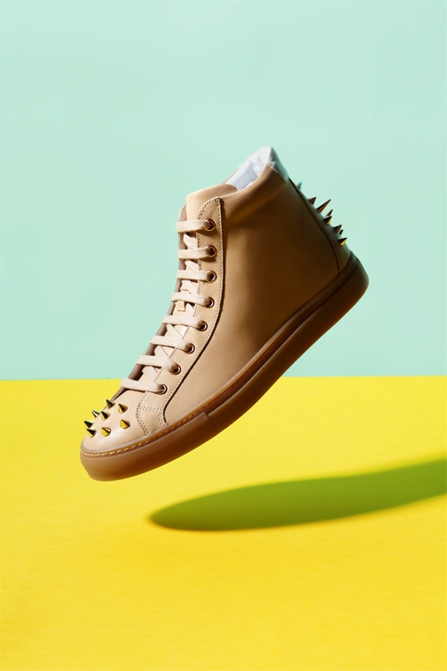 Spiked shoe by Dylan Bauer