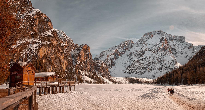 Braies Lake Ices by Antonio Chiesa