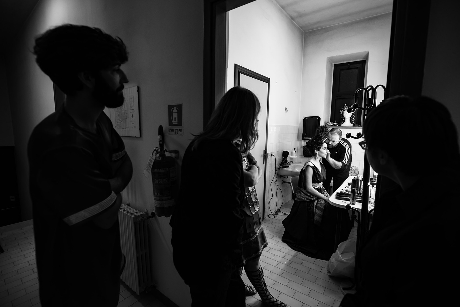 The last touch before the stage by Antonio Chiesa