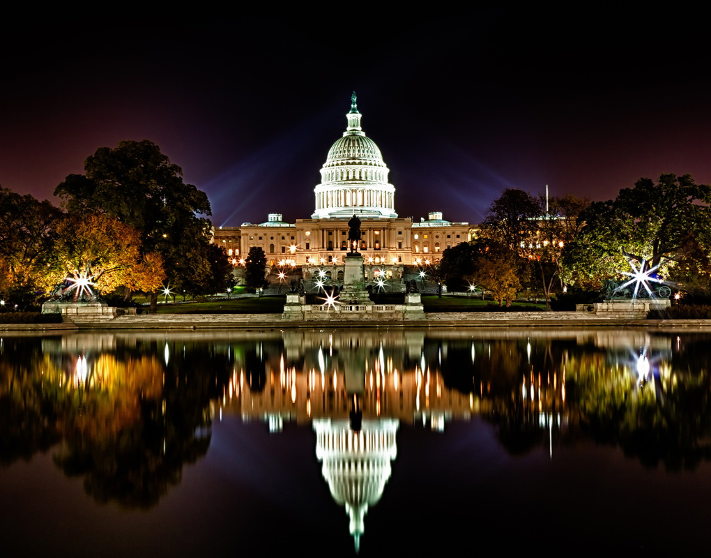 US Capitol Beauty Shot at Fall by Val Tourchin