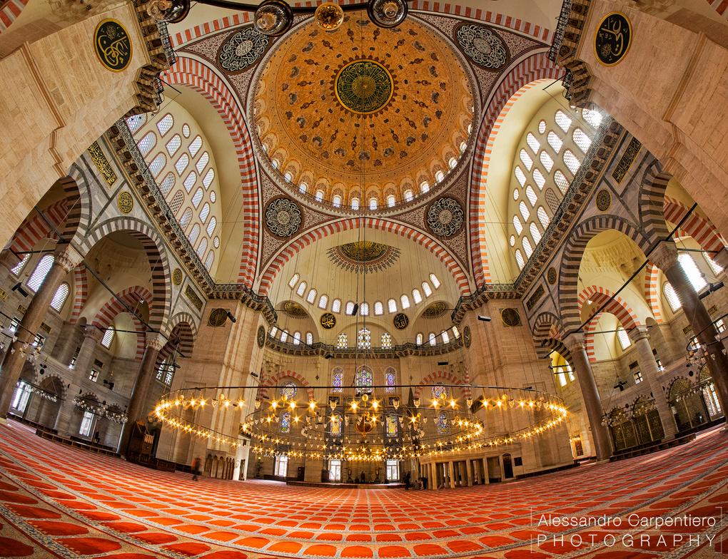 Süleymaniye Camii Interiors by Alessandro Carpentiero