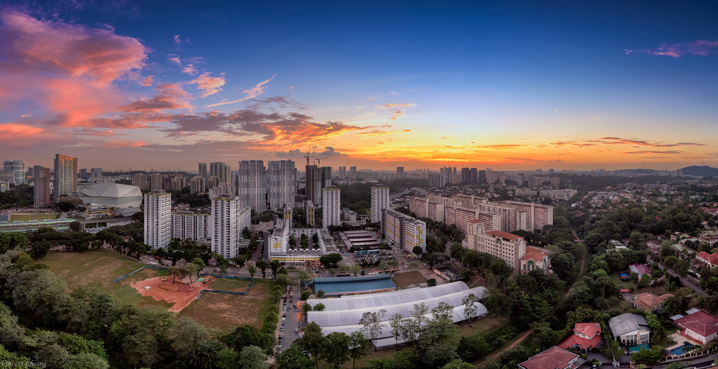 Sunset @ Ghim Moh, Singapore by Vincent Chiang