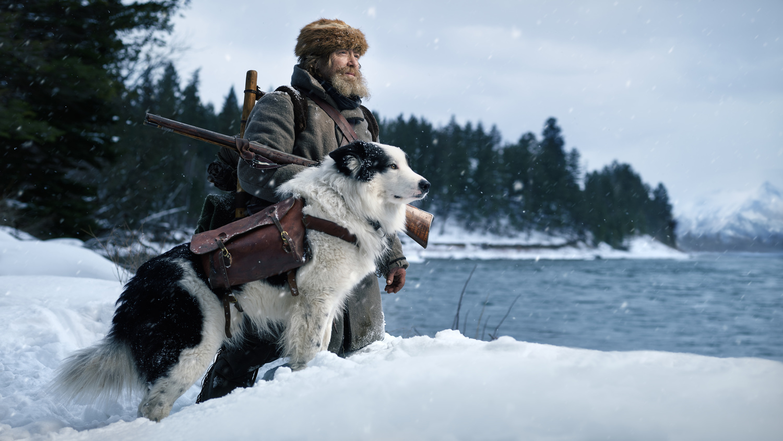 Mountain Men Nathan and his dog Mukwa by Jeroen Nieuwhuis