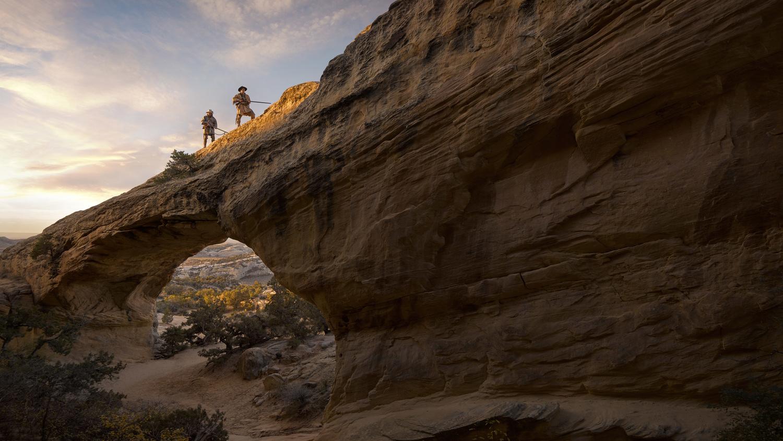 Mountain Men on the trail through the Uintah Country, Utah. by Jeroen Nieuwhuis