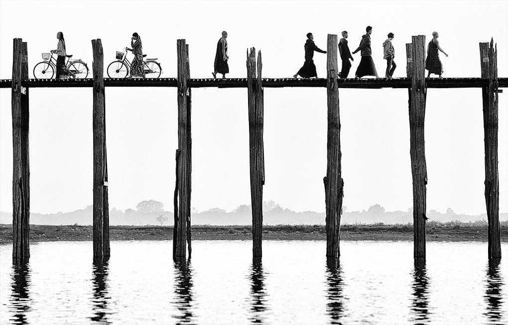 Walking the bridge by Malcolm Fackender