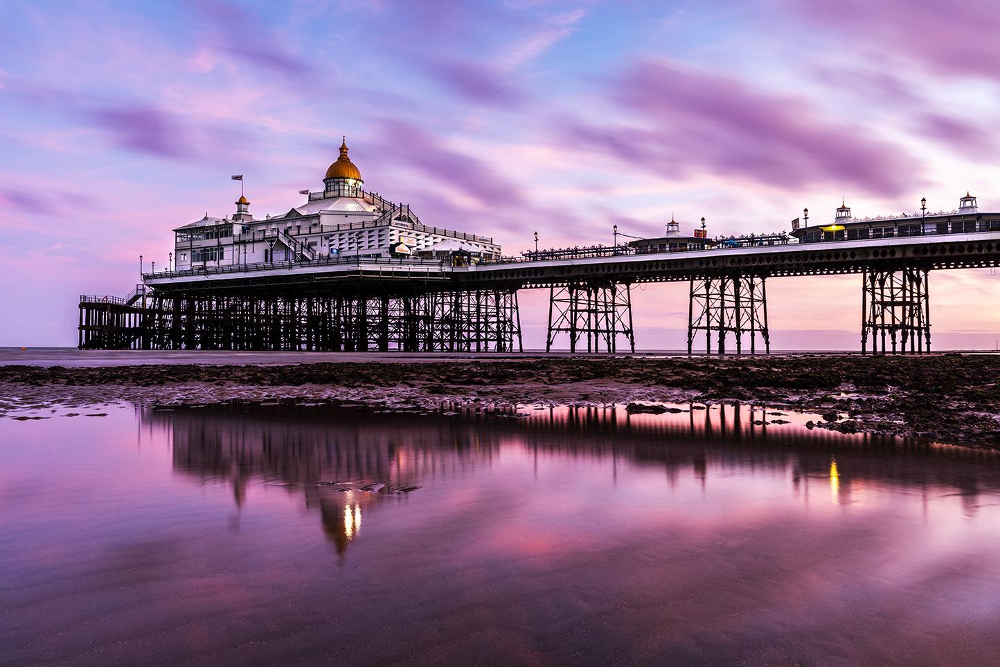 Purple Pier by Simon Anderson