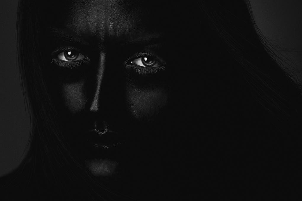 Eyes in Dark by Farbod Green
