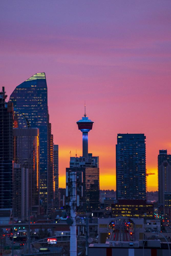 Calgary Sunrise by Mirco Razon