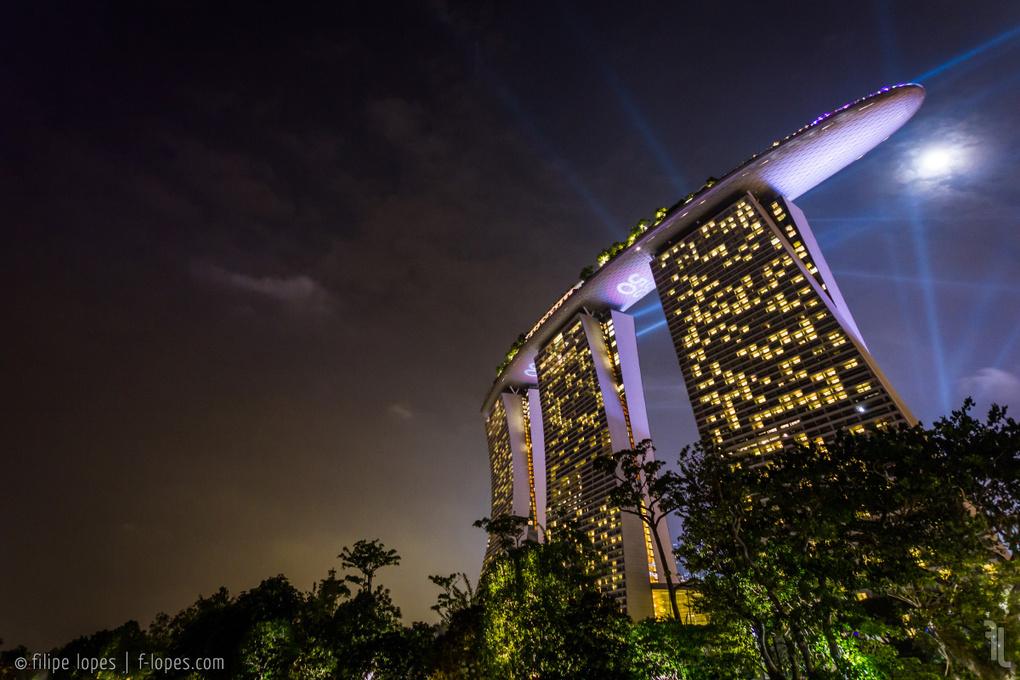 Marina Bay Sands Lights by Filipe Lopes