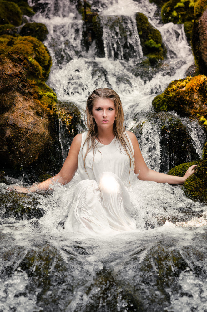 Rebecca - Silk Waterfall by Edoardo Dusina