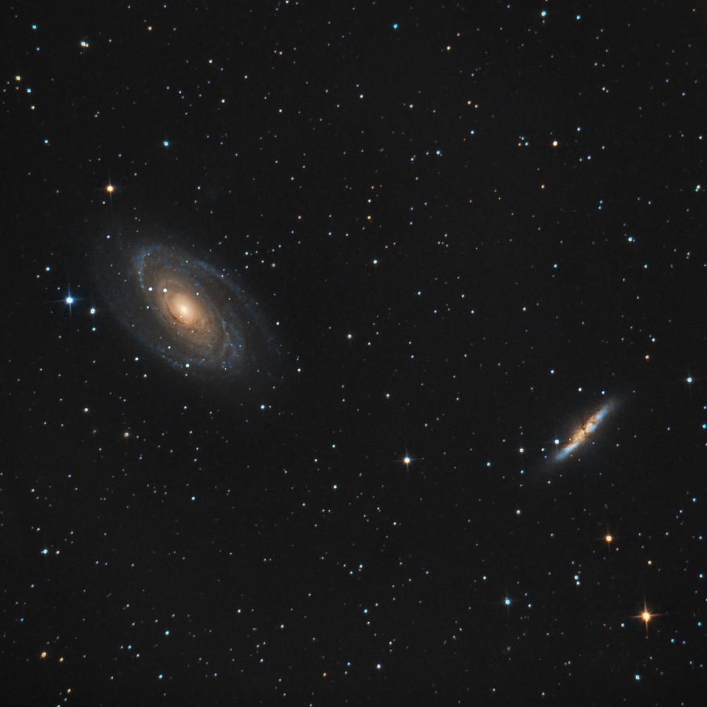 M81 & M82 by Edoardo Dusina