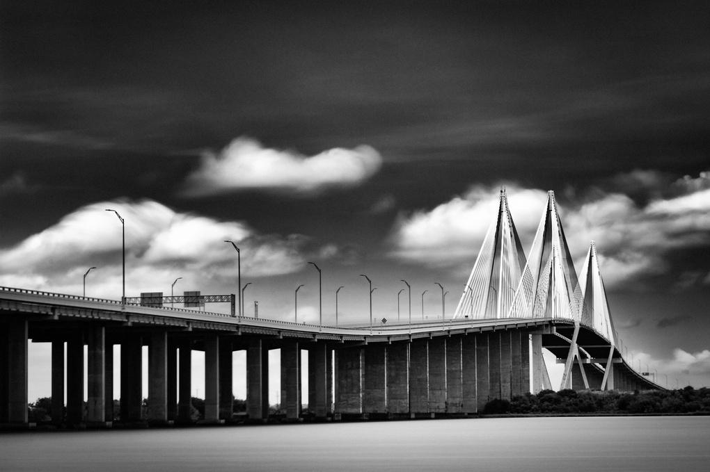 Fred Hartman Bridge - Baytown Texas by Jason Roecker