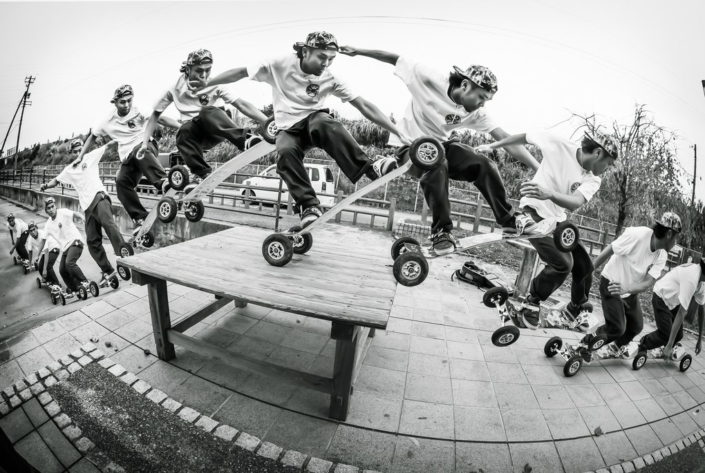 Mountainboarding Tail Manual by Anderson Sato