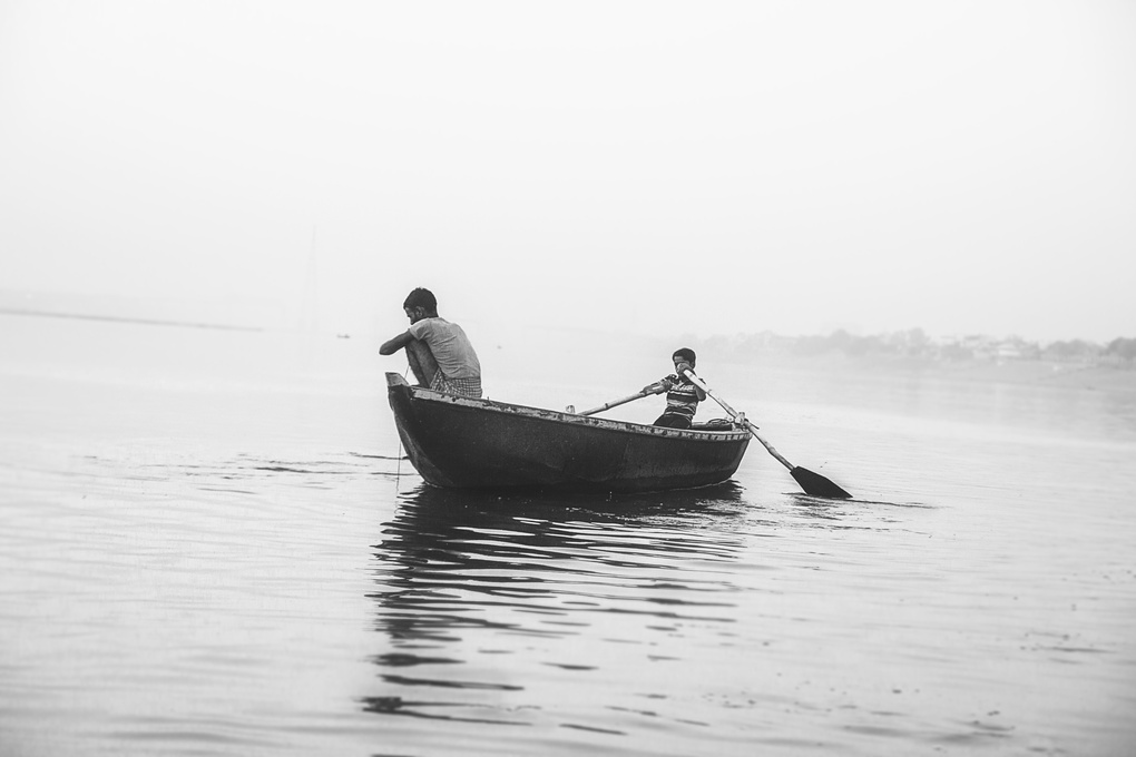 Morning on the Ganges river by Roman Málik
