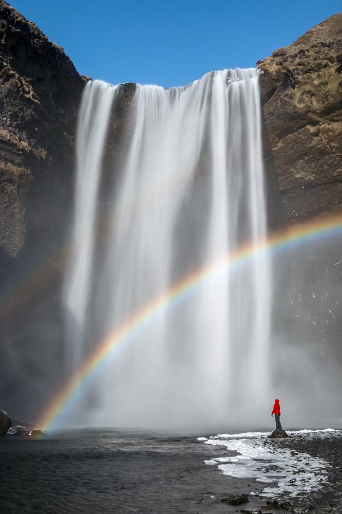 Rainbow at Skogafoss by Ryan Kirschner