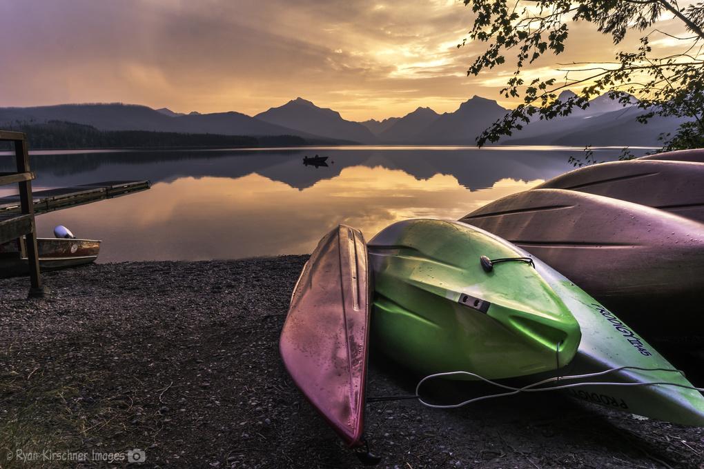 Sunrise at Lake McDonald by Ryan Kirschner