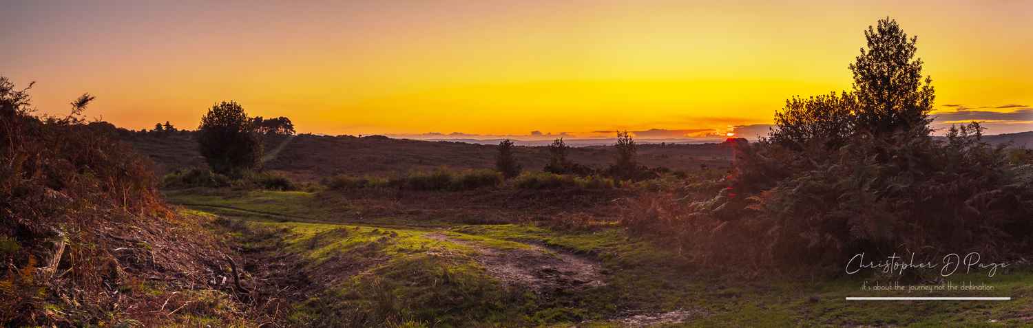 Sunset over the Ashdown Forest by Chris page