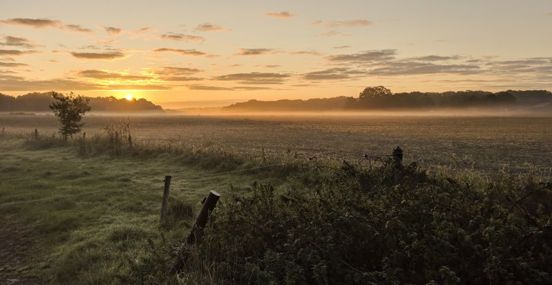 Sunrise over Chailey by Chris page