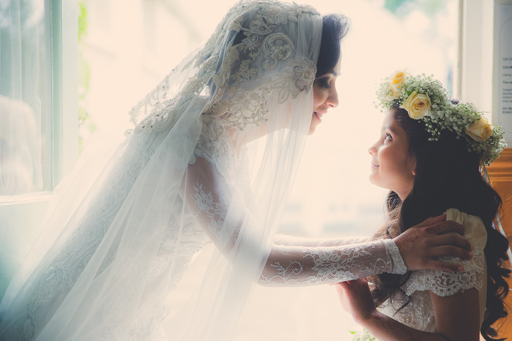 Bride & Flower Girl by rahim ikram