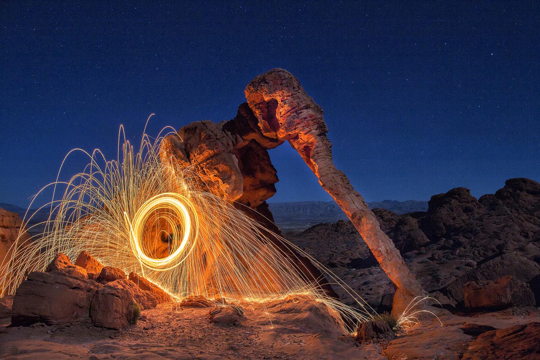 Steel Spinning at Elephant Rock by Wasim Ahmad