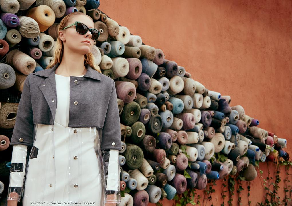"Fashion editorial ""Retrofuturism"" by Leo Scaff"