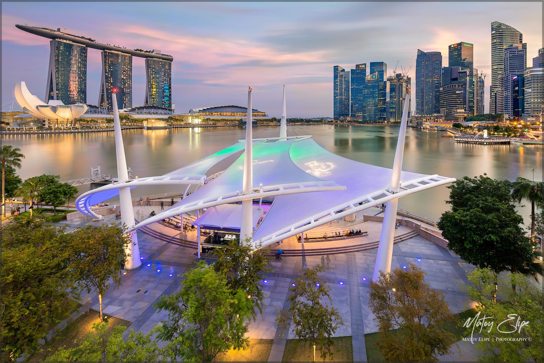 Singapore Sunset by matoy elipe