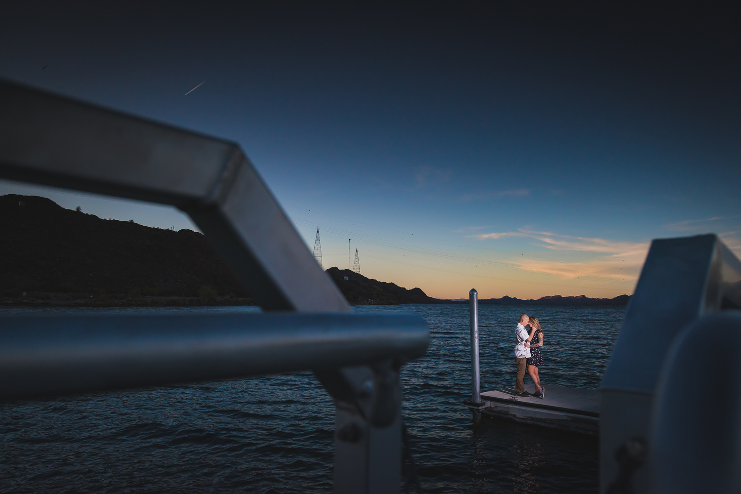 Alone but together on Lake Havasu by Dusty Wooddell