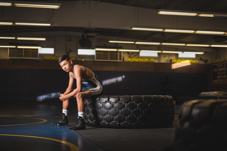 High School Wrestler by Dusty Wooddell