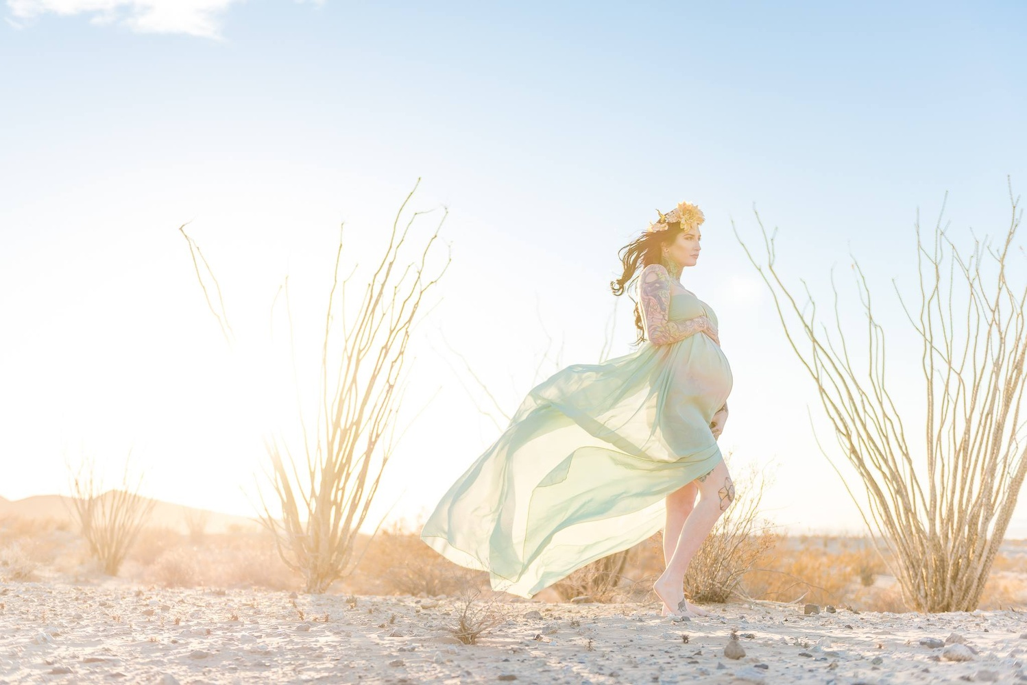 Desert Maternity Session by Dusty Wooddell