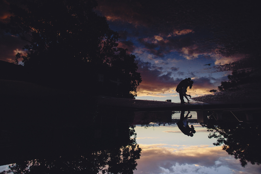 Upside down reflection sunset shot by Rachael Muller