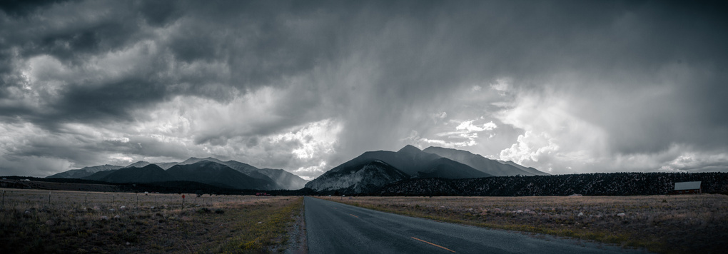 Storm brewing above the Collegiate Peaks by Jeff Chow