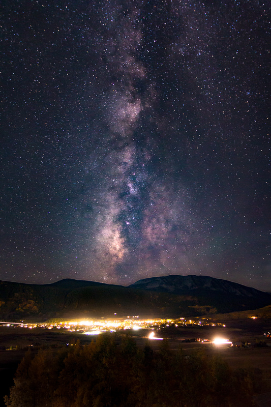 Milky Way over Crested Butte, CO by Jeff Chow