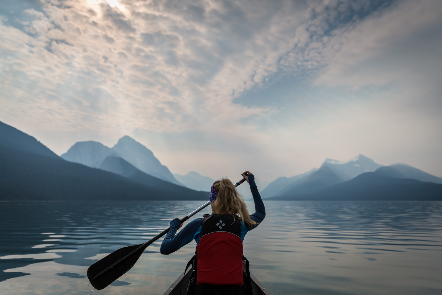 Maligne Lake Paddle by Anders Rosqvist