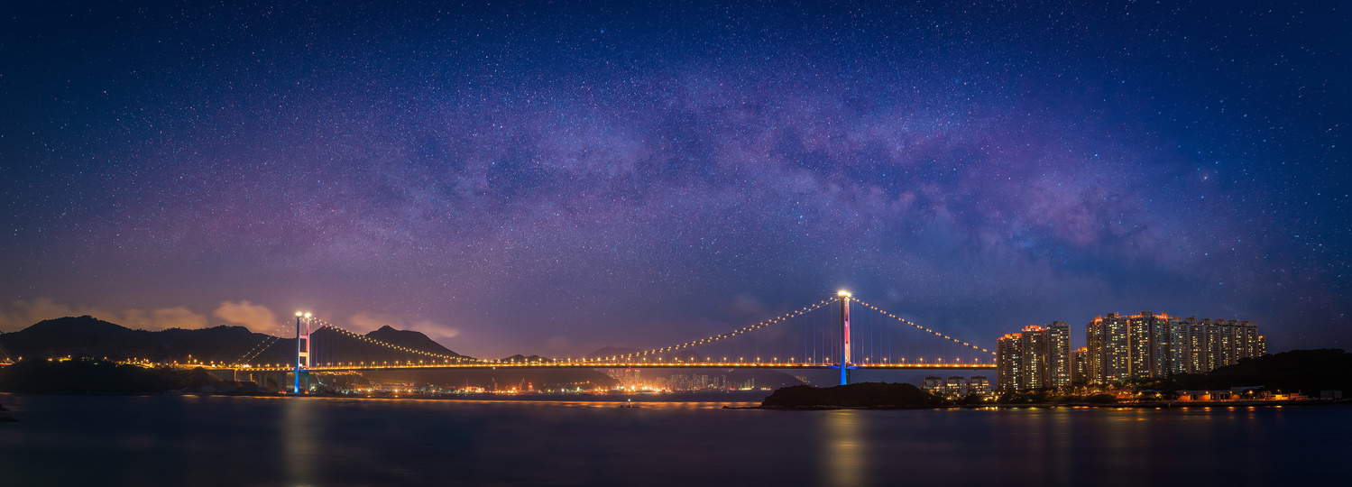 Tsing Ma Bridge by Brenden King
