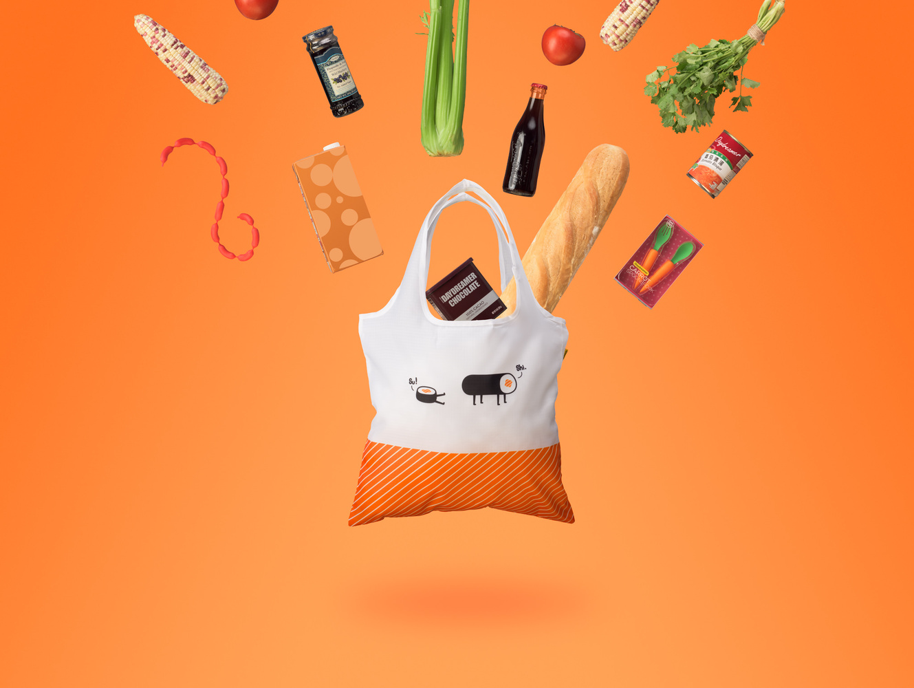 Reusable shopping bag Hero Shot by Brenden King