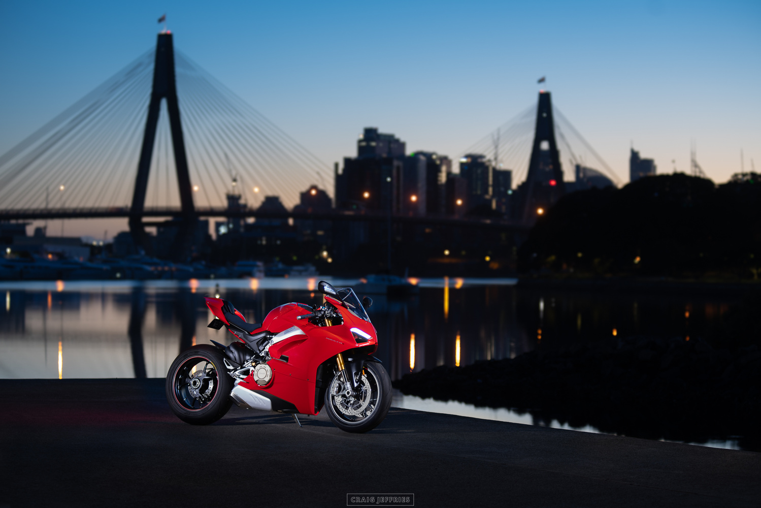 Ducati Panigale V4 at the dawn by Craig Jeffries