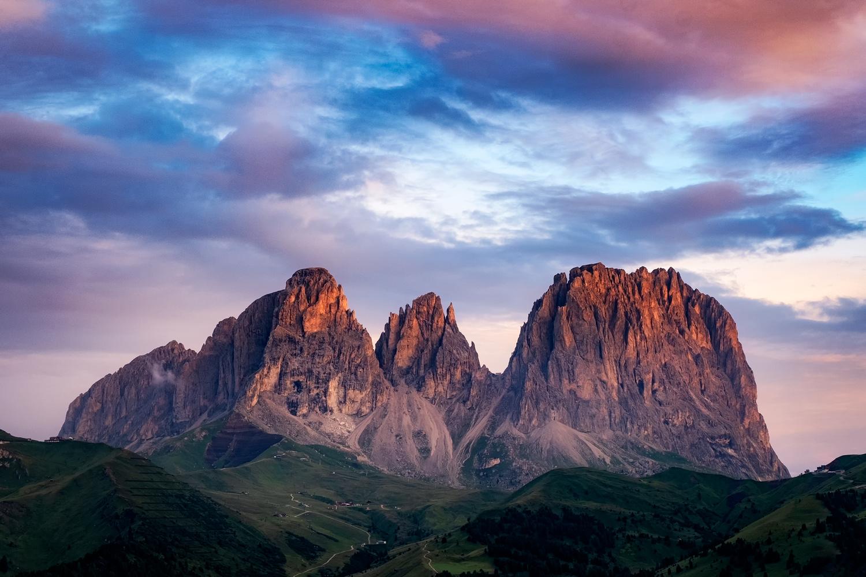Sunrise on Catinaccio by Andrea Re Depaolini