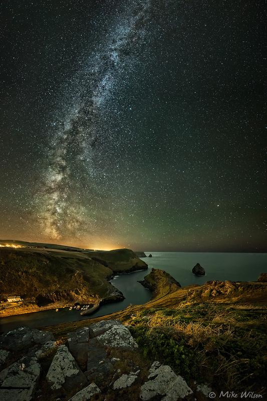 Boscastle Milky Way by Mike Wilson