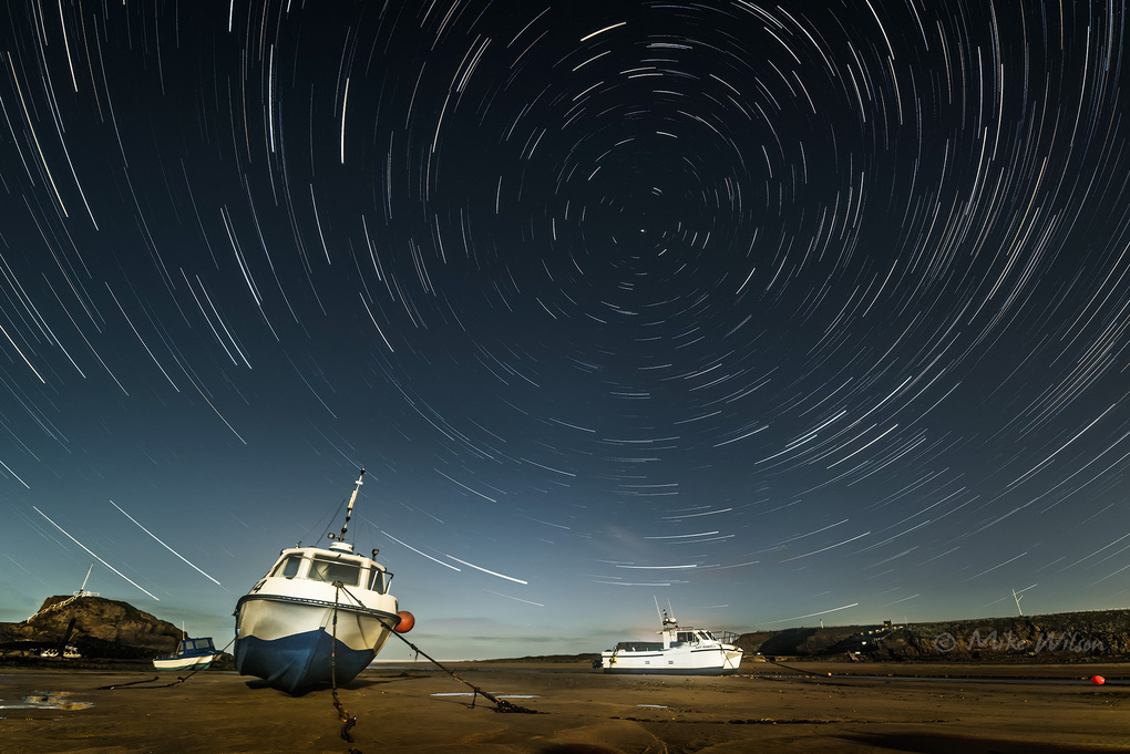 Harbour Star Trails by Mike Wilson