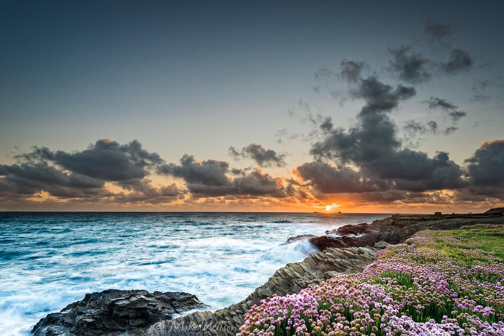 Treyarnon Sunset by Mike Wilson