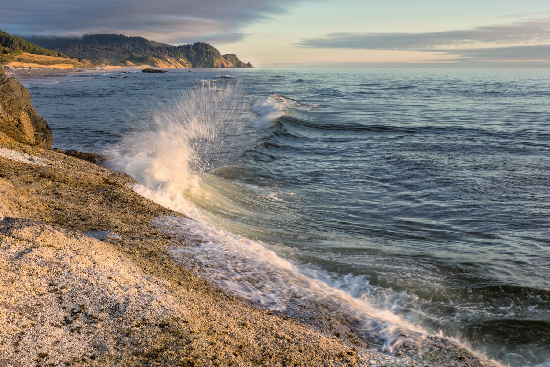 Rock Beach, Incoming Tide by Richie Bednarski