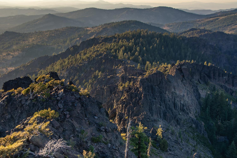 Sunlit accented ridges by Richie Bednarski