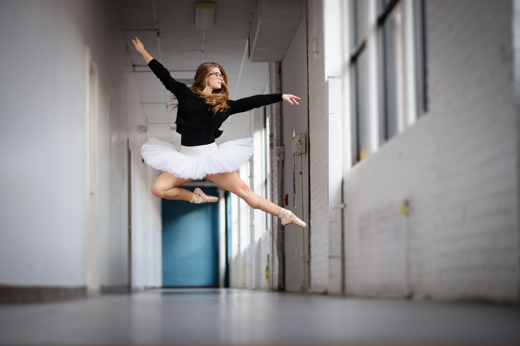 Hipster Ballerina Leap  by Pepper Francis