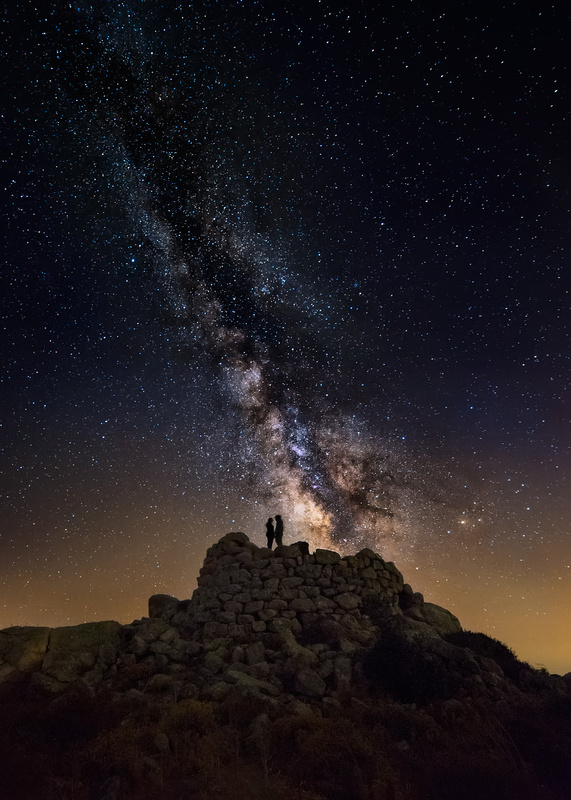 Starry lovers by Ivan Pedretti