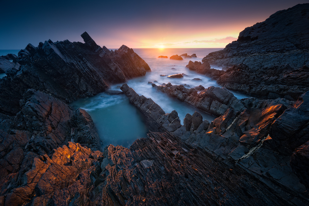 Hartland sunset by Ivan Pedretti